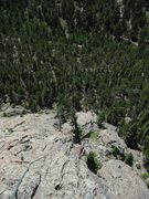 Rock Climbing Photo: Looking down the prominent south arete from the to...