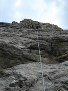 Rock Climbing Photo: Looking up Slab 1.  The route goes up to the left ...