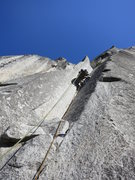 Rock Climbing Photo: Kurt Prond leading up P2, SFWC