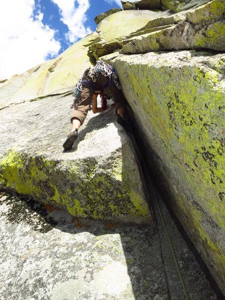 Rock Climbing Photo: Tara leading P2, Igor Unchained