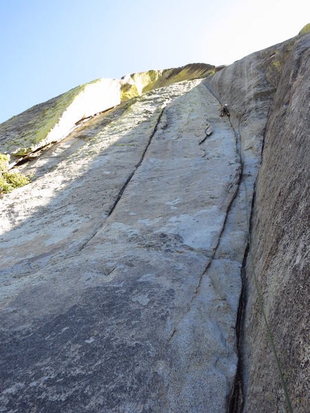 Rock Climbing Photo: Tara Misiewicz leading P1, White Punks on Dope