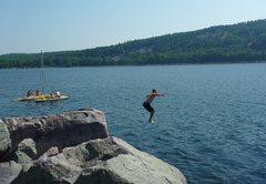 Rock Climbing Photo: Post bouldering cool-off.  Photo Matt.