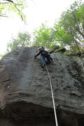 Rock Climbing Photo: Brian on Swiss Cheese