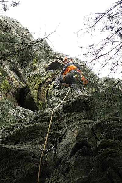 Rock Climbing Photo: Brian leading Air