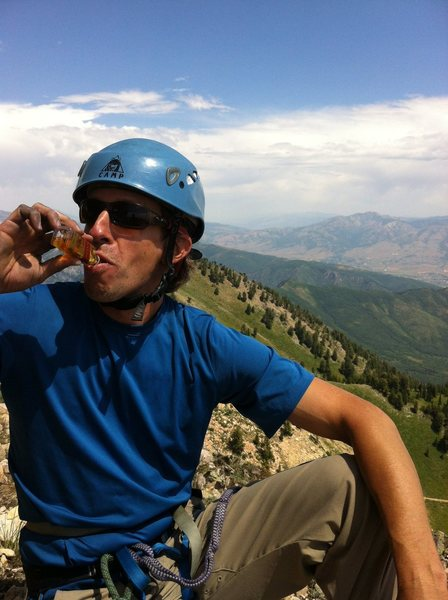 Rock Climbing Photo: Thanks for the Johnnie Walker Red in the summit re...