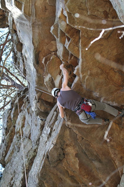 Rock Climbing Photo: Pulling the roof on Cashmere