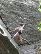 Rock Climbing Photo: Wonderful, but short jug haul capped by easy climb...