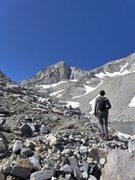 Rock Climbing Photo: Adam on the approach