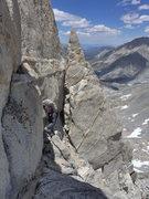 Rock Climbing Photo: navigating the upper ridge