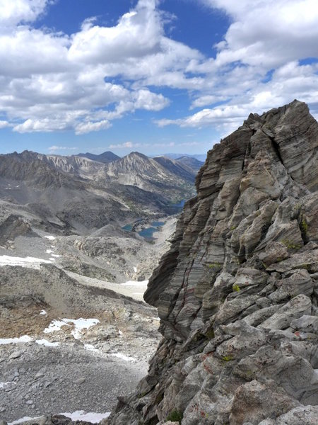 Rock Climbing Photo: striped tower on the NE Arete descent