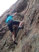 Rock Climbing Photo: Jaclyn gets another lap.  Photo: Erin Paik.