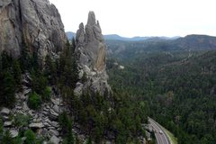 Rock Climbing Photo: Dire Spire from the Middle Marker summit