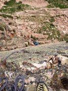 Rock Climbing Photo: Rob coming up pitch #1