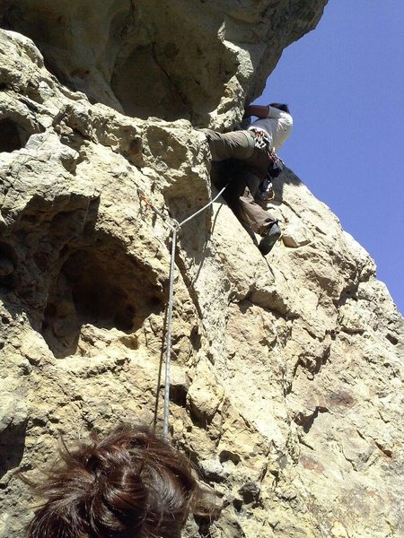 Rock Climbing Photo:  under cling the roof to a short dihedral