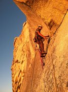 Rock Climbing Photo: Finishing the last pitch in perfect alpenglow (Pho...