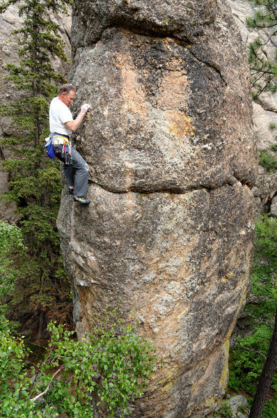 Rock Climbing Photo: Dave Rone just above the crux on End Pin. July 201...