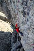 Rock Climbing Photo: Top section of Jugs. Nate Erickson. July 2013.