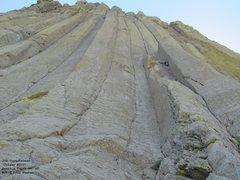 Rock Climbing Photo: Jon at the crux