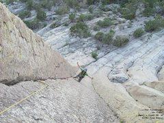 Rock Climbing Photo: Jon cleaning