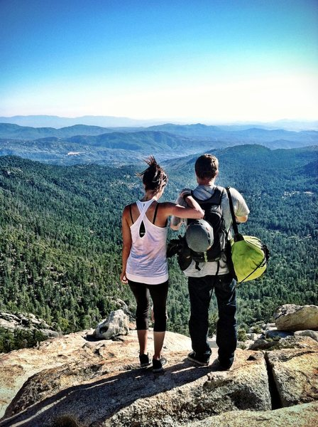 Rock Climbing Photo: View on top of Tahquitz with my boyfriend