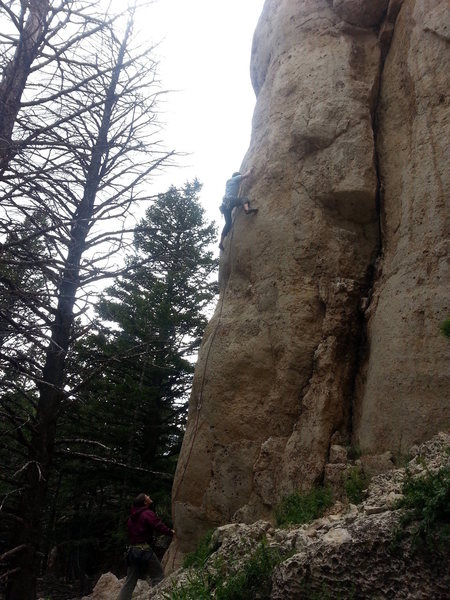 "Rock Climbing Photo: Unknown climber ""Josh"" on Rooster Cogbur..."