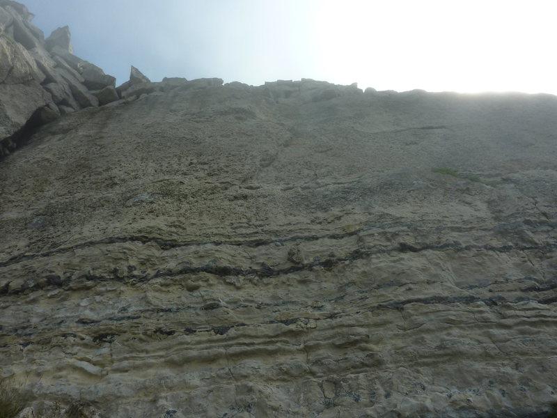 The layback flake along the climb.