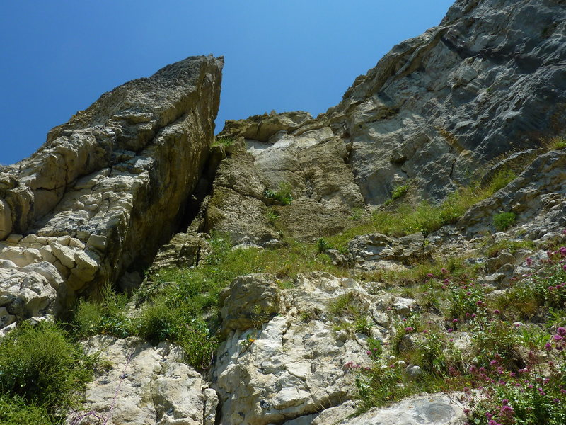 Rock Climbing Photo: View of the arete from the bottom of the climb.