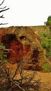 Rock Climbing Photo: Nicotine Fiends problem on Elephant Rock.