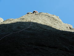 Rock Climbing Photo: Kris stayin' true to the end.