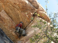 Rock Climbing Photo: First pitch roof move