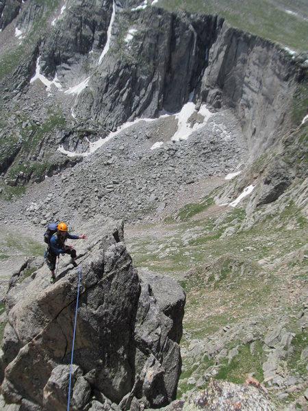 Rock Climbing Photo: Nice ridge climbing on the 2nd tower.