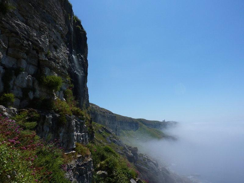 Rock Climbing Photo: Misty morning at Blacknor South.