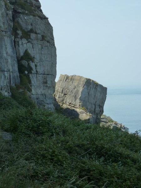 "Rock Climbing Photo: The ""Battleship"" rock.  Battleship back ..."