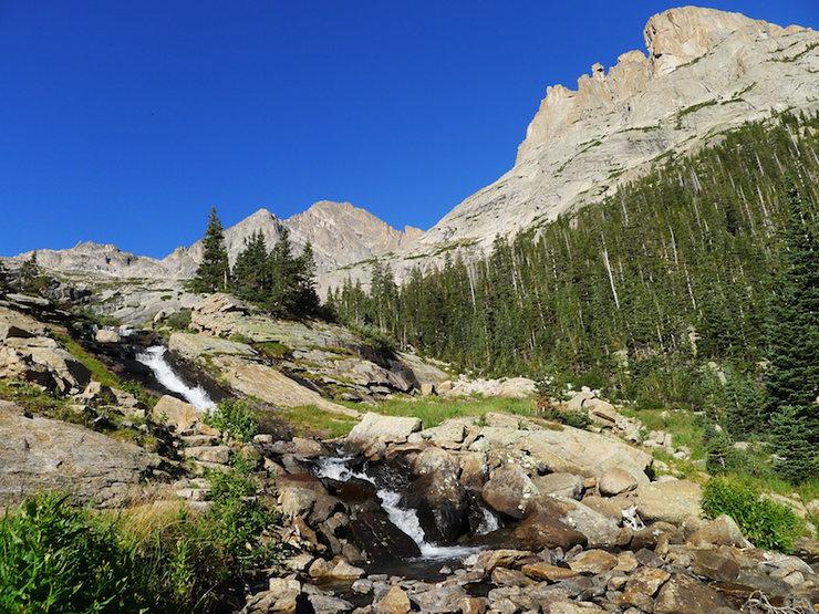 Rock Climbing Photo: Ribbon Falls.