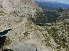 Rock Climbing Photo: Looking down the N Ridge of Spearhead.