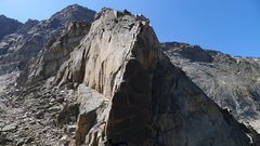 Rock Climbing Photo: The buttress that marks the Central Rib start.