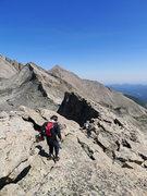 Rock Climbing Photo: Fabby starting the W Ridge of Pagoda.
