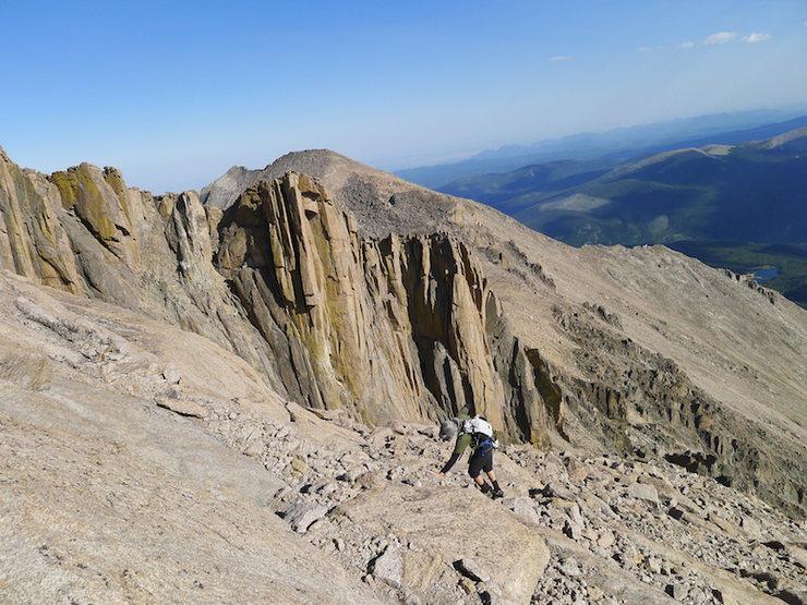 Rock Climbing Photo: Will heading up Long's.