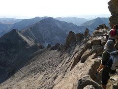 Rock Climbing Photo: Looking back at the W Ridge of Pagoda.