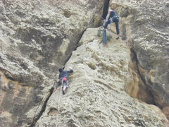 Rock Climbing Photo: Nearing the anchors