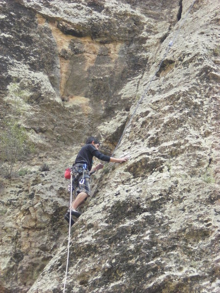 Rock Climbing Photo: half way up the route