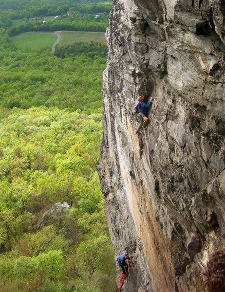 Rock Climbing Photo: Myself and Stu on the bilboard.  Photo credit goes...