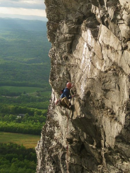 Rock Climbing Photo: Nearing the top of this classic pitch.  Photo cred...