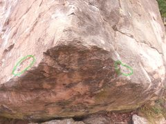 Rock Climbing Photo: Close up on the starting holds