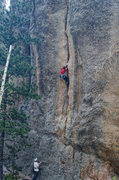 Rock Climbing Photo: Nate Erickson and Dave Rone starting the crack of ...