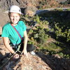 Janie on top of the Leisure Route, fall 2012.