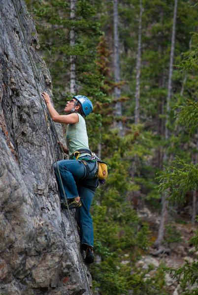 Rock Climbing Photo: Vanessa Logsdon on Chicken Spider.