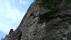 Rock Climbing Photo: Rain blessing