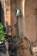 Rock Climbing Photo: low on torpedo, the cruxy bit