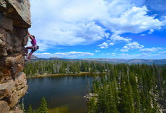 Rock Climbing Photo: climbing at cliff lake